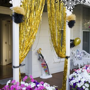Gold tinsel hire Ballarat