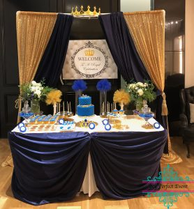 Crown themed baby shower party Ballarat
