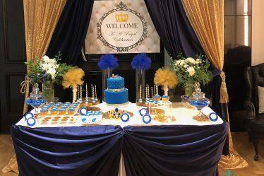 Crown themed baby shower party Ballarat