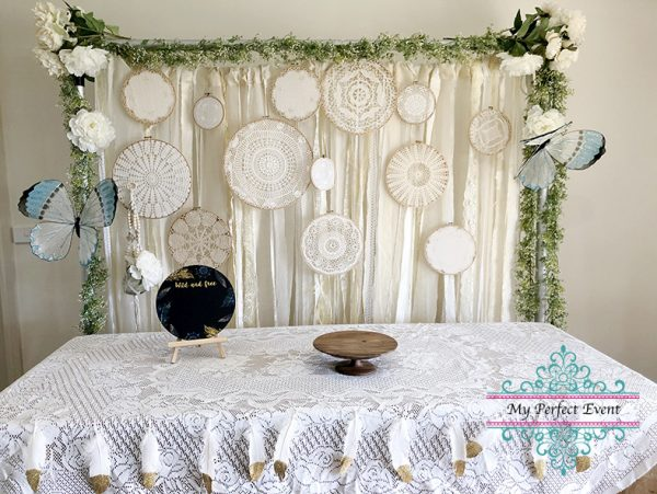 Boho wedding styling party hire Ballarat