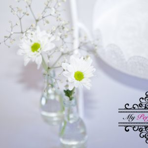 Bud vase party decor hire Ballarat