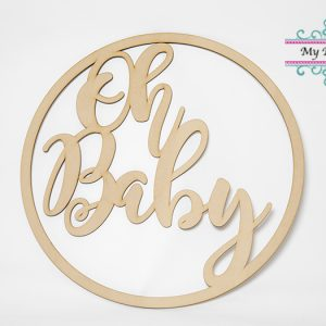 Oh Baby Sign Baby Shower party hire Ballarat