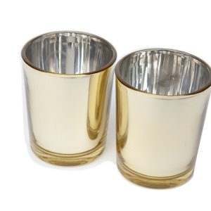 Gold votives wedding hire Ballarat