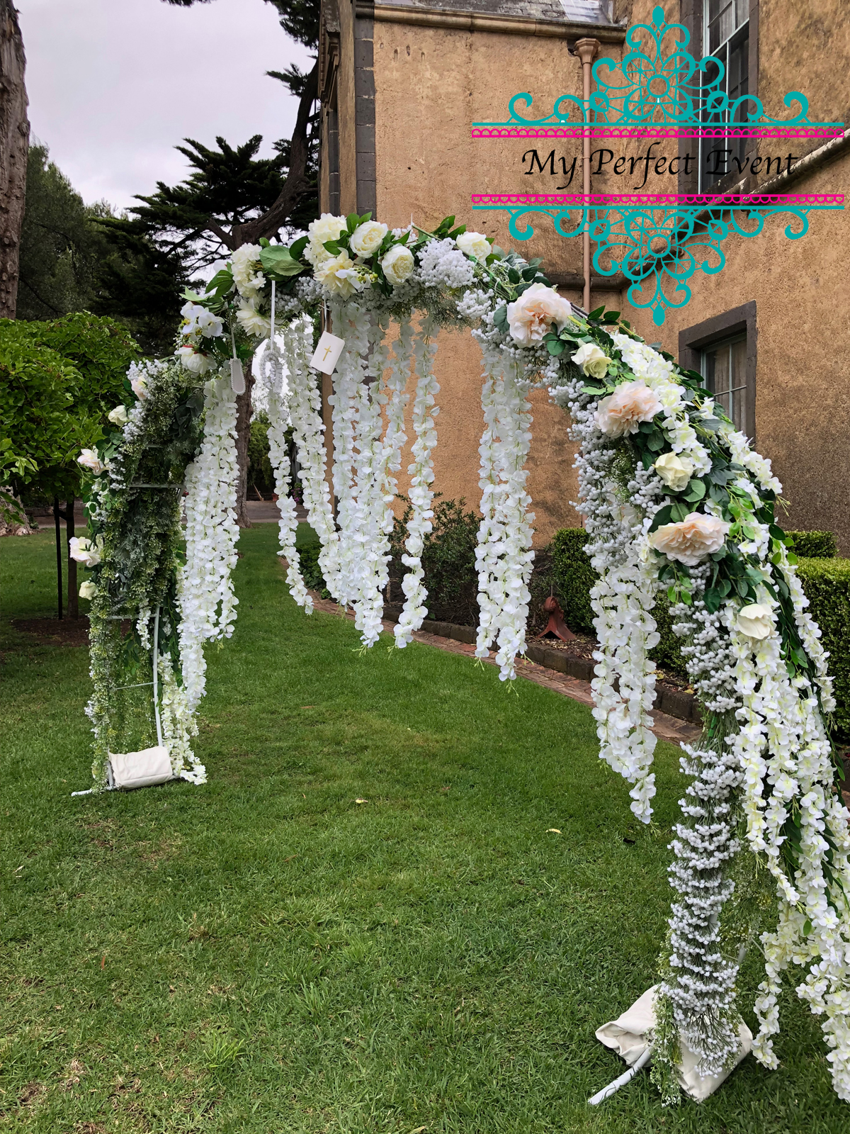 wedding ceremony arch hire & styling Ballarat