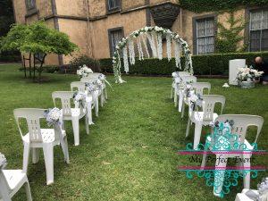 wedding ceremony arch hire & styling Ballarat