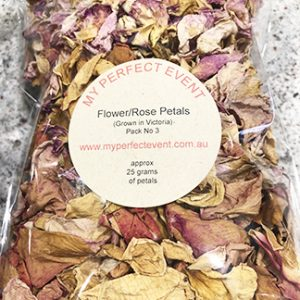 Rose petals wedding confetti Ballarat