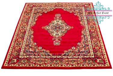 Red rug wedding carpet hire Ballarat