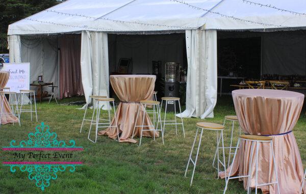 Linen wedding decor hire Ballarat