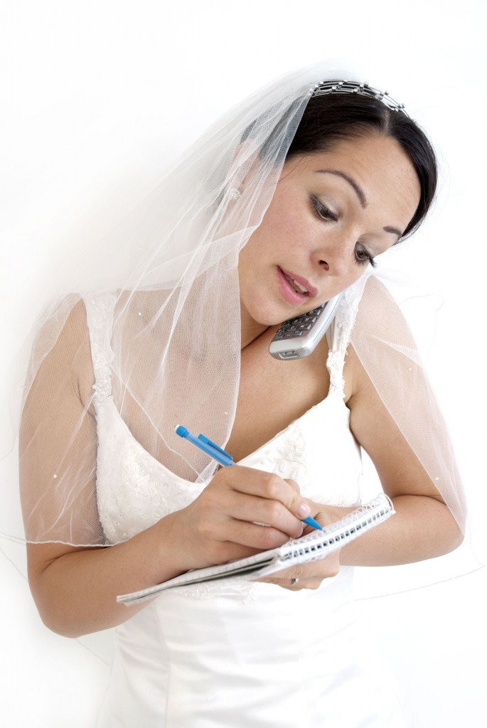 Bride as wedding co-ordinator