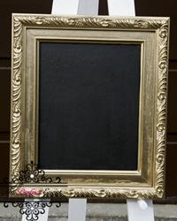 Gold picture frame decor hire Ballarat